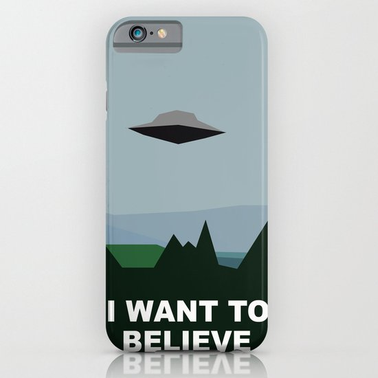 I Want To Believe minimal iPhone & iPod Case