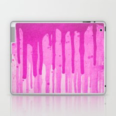 Pink Grunge Color Splatter Graffiti Backstreet Wall Background  Laptop & iPad Skin
