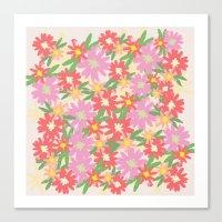 Floral Party Canvas Print