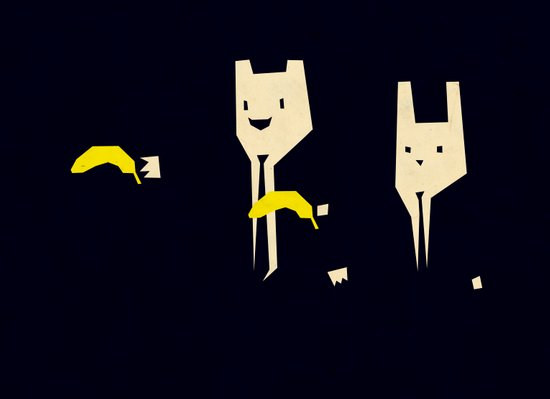 Pulp banana Canvas Print