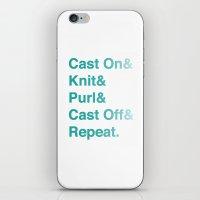 Knitting - Helvetica Amp… iPhone & iPod Skin