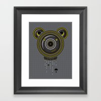 Peace, Love, Panda Framed Art Print