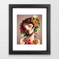 Las Flores Framed Art Print