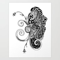 Spirit Of Spring B&W Art Print