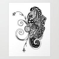 Spirit of Spring B&W Art Print