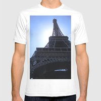The Eiffel Tower Mens Fitted Tee White SMALL