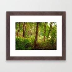 Surreal woodland Framed Art Print