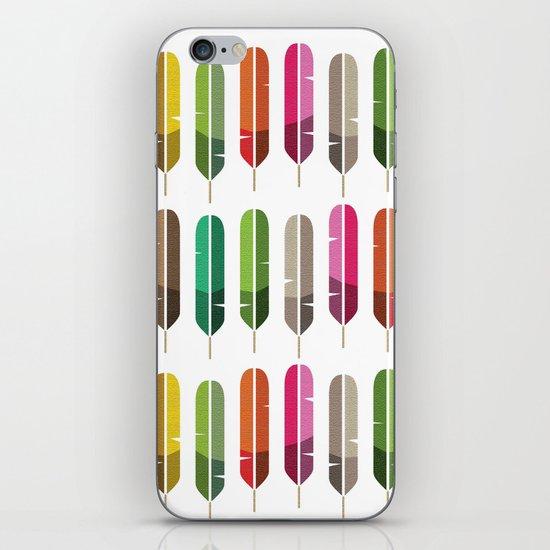 Rainbow Feathers iPhone & iPod Skin