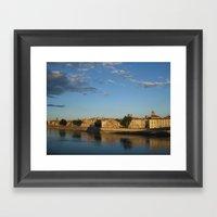 Sunset On The Rhône (Ar… Framed Art Print