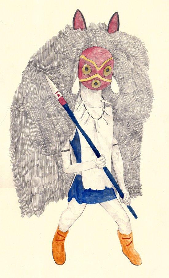 San   Princess Mononoke Art Print