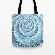 Spiral in Light Blue Tote Bag