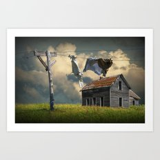 Wash on the Line by Abandoned House Art Print