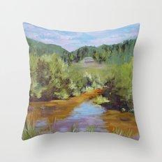 Walk The Lake Throw Pillow
