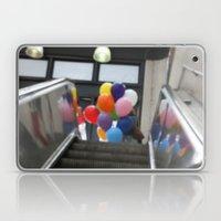Balloons on an Escalator Laptop & iPad Skin