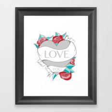 Love- Heart Tattoo Framed Art Print