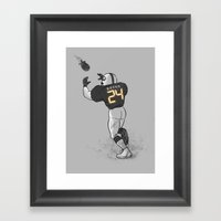 Number Twenty Four Framed Art Print