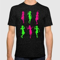 Girls Mens Fitted Tee Tri-Black SMALL