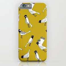 Bird Print - Mustard Yellow iPhone 6s Slim Case