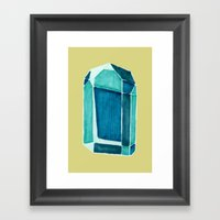 water crystal. Framed Art Print