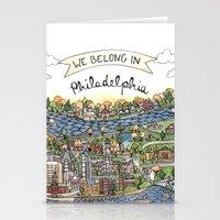 We Belong in Philadelphia! Stationery Cards
