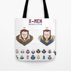 X-MEN BEFORE & AFTER Tote Bag