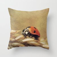 7 Spotted Lady Throw Pillow