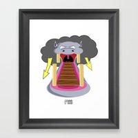 The Hippo's Not So Tempting Offer Framed Art Print