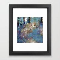 Summer space, smelting selves, simmer shimmers. 21 Framed Art Print