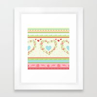 Abstract peace and love Framed Art Print