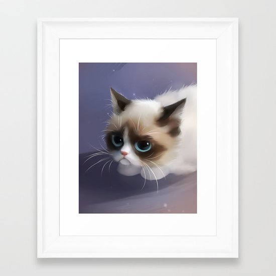 little grumpy things Framed Art Print
