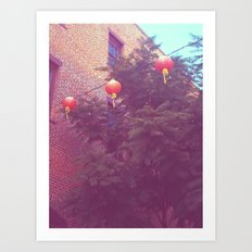 Chinese Lanterns Art Print