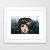 She Makes The Sound The Sea Makes Framed Art Print