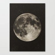 The Moon  [Sans Type] Canvas Print