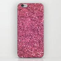 PINK GLITTER iPhone & iPod Skin
