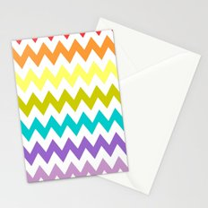 Rainbow Chevron Stationery Cards