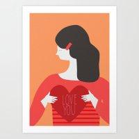 Love You Lady Art Print