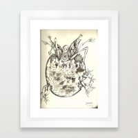 Larvae Framed Art Print