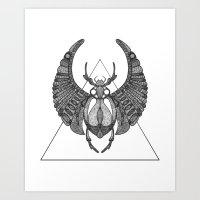 Scarab Art Print