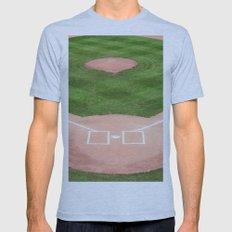 Baseball field /Baseballfeld Mens Fitted Tee Athletic Blue SMALL