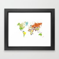 The World Goes Round & Round Framed Art Print