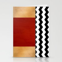 Shiny Copper Crimson Red… Stationery Cards
