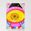 Psychedelic Wrestler Stationery Cards