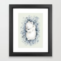 Polar Slumber Framed Art Print
