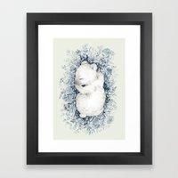 Polar Slumber Framed Art Print