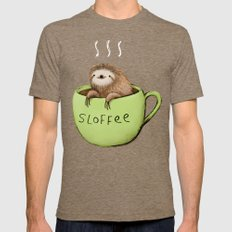 Sloffee Mens Fitted Tee Tri-Coffee SMALL
