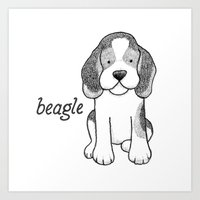 Dog Breeds: Beagle Art Print