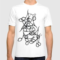 Scissors Mens Fitted Tee White SMALL