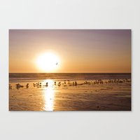 Sunset over Zuma Beach, 2011 Canvas Print