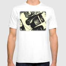 Shockin' White Light Guitar Mens Fitted Tee SMALL White