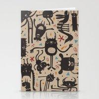 Topsy Turvy - Light Stationery Cards